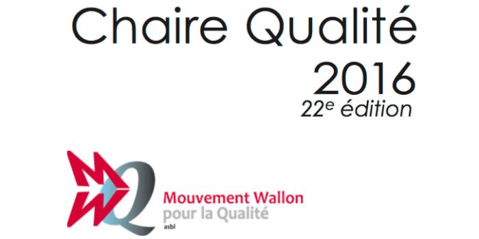 Chaire Qualité 2016 – 22e édition